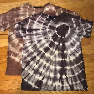 4/$15 Lands End tie dye t shirts size small